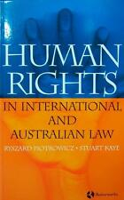 Human Rights in International & Australian Law by Ryszard W. Piotrowicz Book