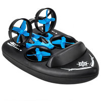 3-in-1 RC Drone Land Water Air Three Model Remote Control Helicopters Kids Gift