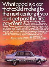 1985 VW Volkswagen new Jetta Original Advertisement Print Art Car Ad J752