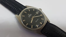 USED VINTAGE 60'S OMEGA GENEVE BLACK DIAL DATE AUTO 565 MAN'S WATCH
