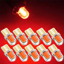 10x T10 194 168 W5W COB 8 SMD LED CANBUS Silica Bright RED License Light Bulb