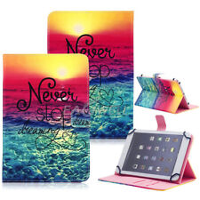 "Universal Common Tablet PC Leather Slim Folio Stand Case Cover For 7"" 10"" Inch"