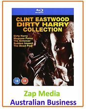 Clint Eastwood Dirty Harry Collection Blu-ray 5-movies Hit Film Series Region B