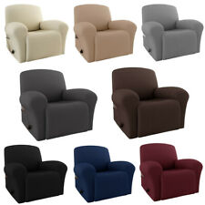 Hot 4 Pcs Recliner Chair Cover Lazy Boy Stretch Couch Sofa Slipcover Solid Color