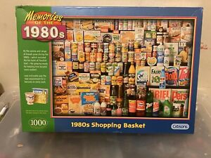 GIBSONS MEMORIES OF THE 1980s SHOPPING BASKET 1000 PIECE JIGSAW PUZZLE * NEW *