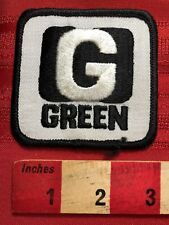 Vtg Says G GREEN, But Is Black & White Advertising Patch (Last Name Too) 00M5