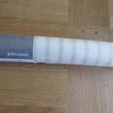John Lewis Ticking Stripe Wallpaper-Gris Humo/Shabby Chic & Cream