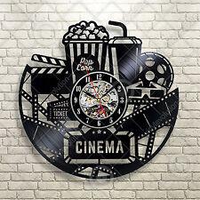 Home Theater Movie Cinema Snack Bar Decor Rec Room Popcorn Machine Sign Clock