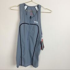 New TYR Carbon Male Half Zip Cycling Tank TEMZ6A Size Small MSRP $120