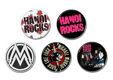 5 x Hanoi Rocks & Michael Monroe buttons (badges,pins,glam,25mm)