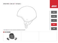 Z223654R GIVI RICAMBIO INTERNO COMPLETO per CASCO EASY-J DEMI JET 10.9 TG XS 54