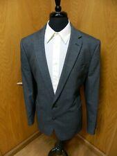 Mens Blazer Sport coat Jacket Stafford 48r Slim Fit Blue Weave Elbow Nwt N#18