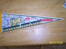 """Modesto A's Pennant Athletics Team Signed Autograph 26"""" 22 Players 1990s Oakland"""