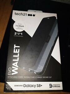 Tech 21  Evo Wallet FlexShock Black Wallet Case Cover for Samsung Galaxy s8 plus