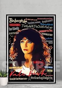 Kate Bush Pop Art Typography Collectable/Gift/Music Memorabilia