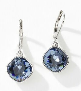 Touchstone Crustal by Swarovski Breee earrings denim blue new in box
