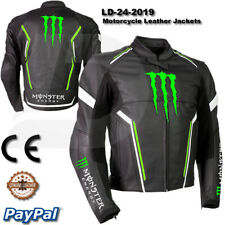 Monster Motorbike Motorcycle Rider Leather Jacket  LD-24-2019 ( US 38-48 )