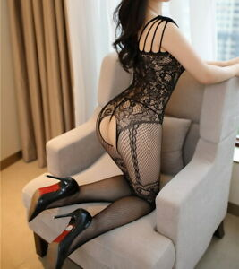 Women Body Stockings Fishnet Sling Floral Cosplay  Tights Underwear 88361