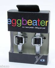 Crank Brothers Egg Beater Mountain Bike Pedals, Silver with Black Spring