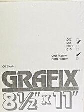 Grafix Clear Acetate .005, 8.5 x 11 100ct. K05CL0811