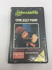 ONE JUST MAN - 1975 - VHS - PAL - Techno Video Label - SWEDEN - ULTRA RARE