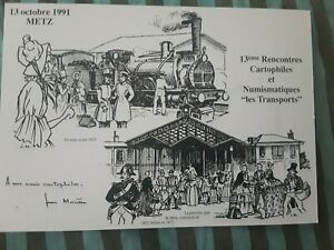 Carte Postale Metz Jean Morette 13 e rencontres  cartophiles 13 10 1991