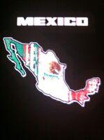 Mexico Flag Sound Activated Lights Up LED Light EL T-Shirt S/L/L/XL/XXL