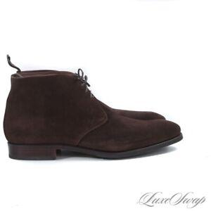 NIB #1 MENSWEAR Carmina 10027 Rain Last Espresso Suede Chukka Boots 10 NR #R66