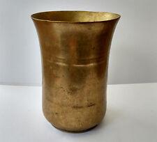 Ancien verre à lassi en bronze Inde du Nord 19e