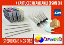Cartucce Ricaricabili 603xl x EPSON wf2810 wf2815 wf2830 wf2835 wf2850 xp-2100
