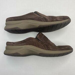 CLARKS Women's Slip-On Loafers Shoes Suede Brown Women's Size 11 M Faux Fur