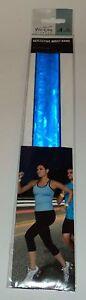 1 VIVI-LIFE FITNESS Reflective Wrist Band BLUE One Size Fits Most NIP