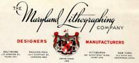 THE MARYLAND LITHOGRAPHING CO BALTIMORE*DESIGNERS & MANUFACTURERS STATIONERY