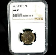 1913 Type 1~Indian Head Buffalo Nickel~Graded MS65 by NGC~Combo Shipping~!