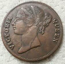 1818 queen victoria 2 two anna east india company rare palm size coin