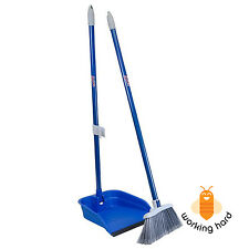 BROOM DUSTPAN SET Stand And Store Lobby Kitchen Home Floor Cleaning Set 35.5""