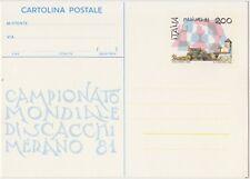 CARTOLINA POSTALE 200 LIRE 1/10/1981 MONDIALE DI SCACCHI - NUOVO C188