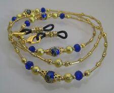 Spectacle Sunglasses Eyewear Beaded Chain - Royal Blue Cloisonné