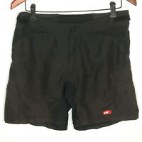 Louis Garneau Womens Shorts L Black Cycle Bike Adjust Waist Pocket Loose Fit