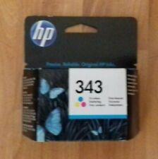 GENUINE HP 343 C8766EE TRI COLOUR INKJET PRINT CARTRIDGE, DATE AUG 2014. NEW