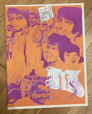 Motown family Psychedelic Litho Program With Original Ticket Stub 1969