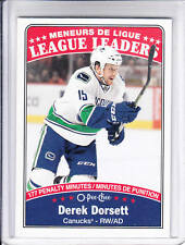 16/17 OPC Vancouver Canucks Derek Dorsett League Leaders card #647