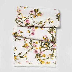 """Threshold Floral Table Runner 14"""" x 72"""" Spring Table Runner"""