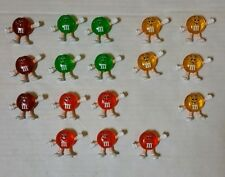 (17) Vintage '93 light covers M&M's CHRISTMAS Lights Red/Orange/Yellow/Green