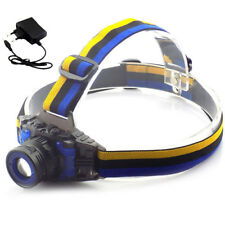 powerful Q5 1600lm Headlamp Rechargeable Zoom head Torch Headlight AC Charger