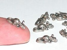 1pc Miniature little dollhouse tiny 3d metal Christmas Mouse findings 5x11mm *
