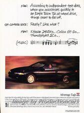 1992 Eagle Talon - Music Man -  Original Advertisement Print Art Car Ad J755