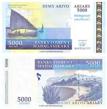 Madagascar 5000 Ariary 2007-2012 Commemorative  P-94 Banknotes UNC