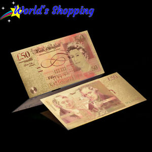£50 Fifty Pound 24 Carat Gold Leaf Collectibles