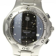 Good! TAG HEUER Kirium CL1110 Chronograph Black Dial Quartz Men's_420432
